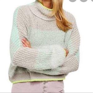 Free People Sunbrite Mock Turtleneck Knit Sweater